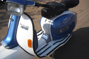 Blue White With Indicators
